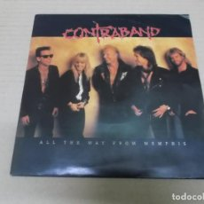 Discos de vinilo: CONTRABAND (SINGLE) ALL THE WAY FROM MEMPHIS AÑO 1991. Lote 236643595