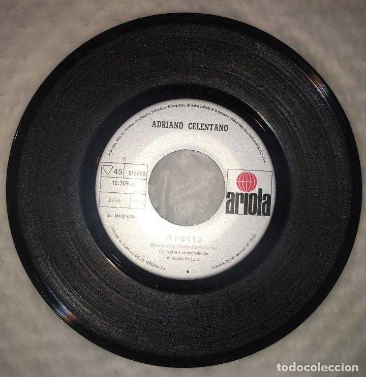 Discos de vinilo: SINGLE ADRIANO CELENTANO - CLAN CELENTANO - BRUTTA - UNA STORIA COME QUESTA - PEDIDO MINIMO 7€ - Foto 3 - 236649150