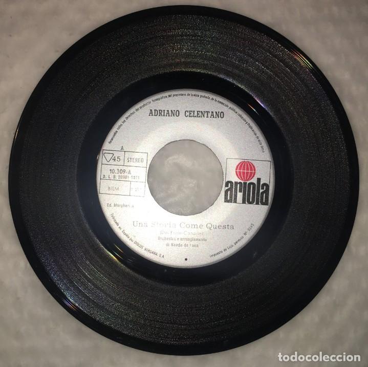 Discos de vinilo: SINGLE ADRIANO CELENTANO - CLAN CELENTANO - BRUTTA - UNA STORIA COME QUESTA - PEDIDO MINIMO 7€ - Foto 4 - 236649150