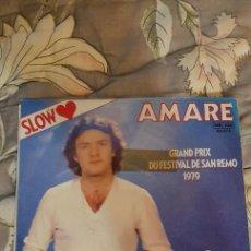 "Discos de vinilo: MINO VERGNAGHI – AMARE LABEL: DISQUES IBACH – 60 072 FORMAT: VINYL, 7"", 45 RPM COUNTRY: FRANCE. Lote 236654460"