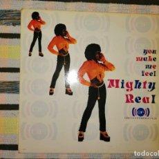 Discos de vinilo: LOTE 2 DISCOS. MIGHTY REAL-YOU MAKE ME FEEL Y ARETHA FRANKLIN-A DEEPER LOVE. Lote 236659560