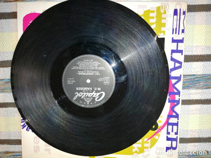 Discos de vinilo: LOTE 2 DISCOS RAP/HIP HOP. MIG HAMMER-SWEETNESS Y B.V.S.M.P- HOLD ME - Foto 3 - 236662155