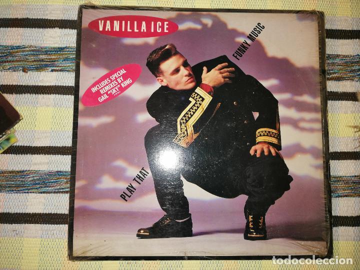 Discos de vinilo: LOTE 2 DISCOS RAP/HIP HOP. VANILLA ICE-PLAY THAT FUNKY MUCIS Y PAPA BEAR-CHERISH - Foto 3 - 236662785