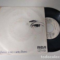 Dischi in vinile: LUCIO BATTISTI. 45 RPM. IL MIO CANTO LIBERO+CONFUSIONE . RCA 1973 PROMOCIONAL. Lote 236670590