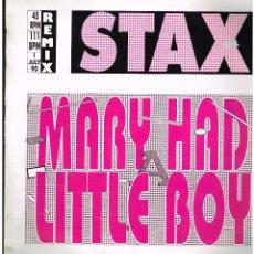 Discos de vinilo: STAX - MARY HAD A LITTLE BOY (2 VERSIONES) / MAJESTY - MAXI SINGLE 1990 - ED. ESPAÑA. Lote 236697700