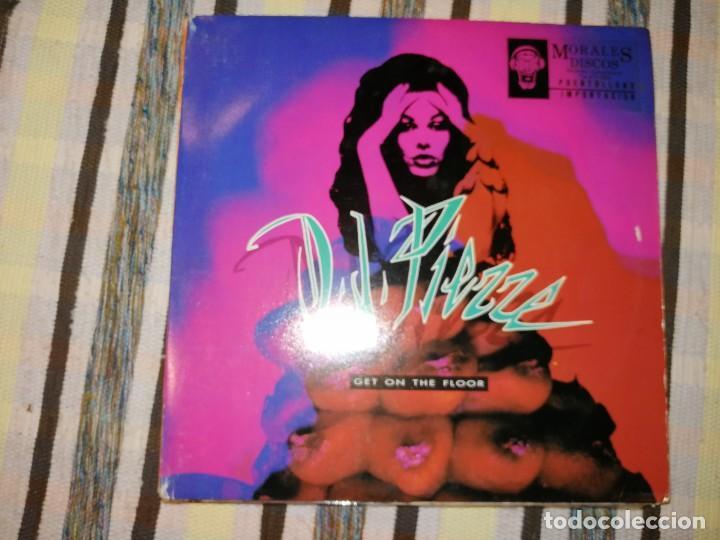 LOTE 2 DISCOS TECHNO.CANDY FLIP, LOVE IS LIFE Y D.J.PIERRE, GET ON THE FLOOR (Música - Discos de Vinilo - Maxi Singles - Techno, Trance y House)