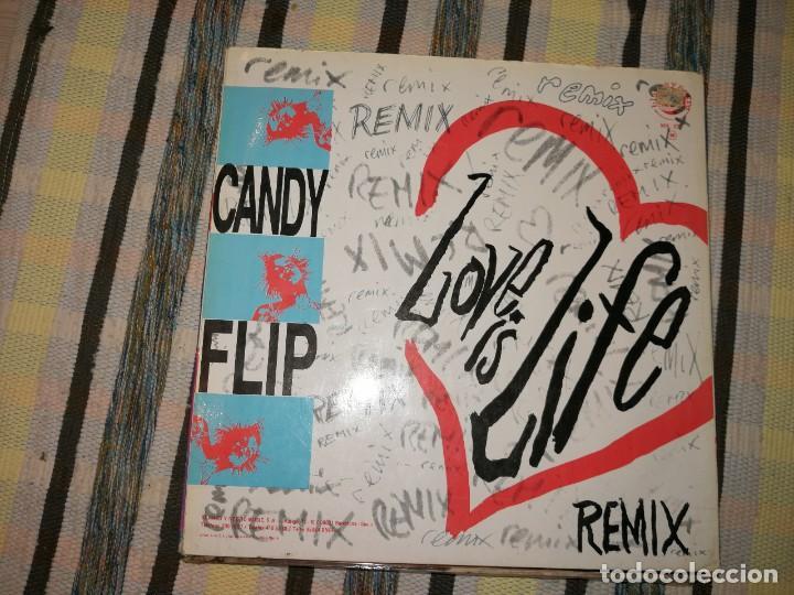 Discos de vinilo: LOTE 2 DISCOS TECHNO.CANDY FLIP, LOVE IS LIFE Y D.J.PIERRE, GET ON THE FLOOR - Foto 3 - 236698990