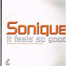 Discos de vinilo: SONIQUE - IT FEELS SO GOOD - MAXI SINGLE 2000. Lote 236701405