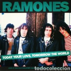 Discos de vinilo: RAMONES - TODAY YOUR LOVE, TOMORROW THE WORLD LIVE AT THE OLD WALDORF. LP VINILO NUEVO. Lote 236701750