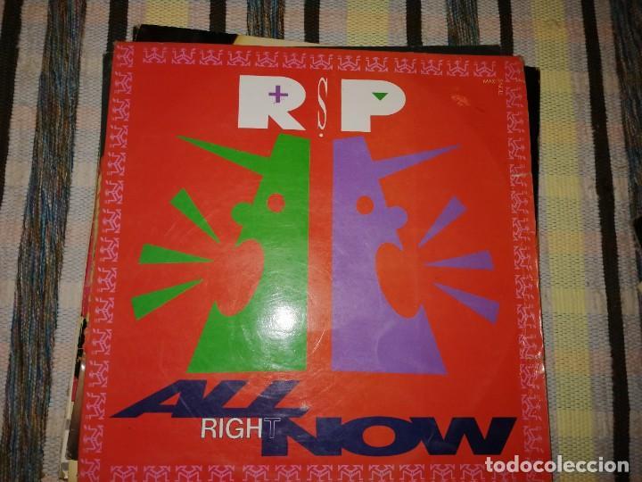LOTE 2 DISCOS POP ROCK. JOSETTE MARTIAL, WOI-MAMA Y RSP, ALL RIGHT NOW (Música - Discos de Vinilo - Maxi Singles - Pop - Rock Internacional de los 70)