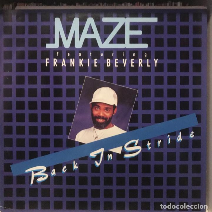 MAZE FEATURING FRANKIE BEVERLY ‎ BACK IN STRIDE (Música - Discos de Vinilo - Maxi Singles - Funk, Soul y Black Music)