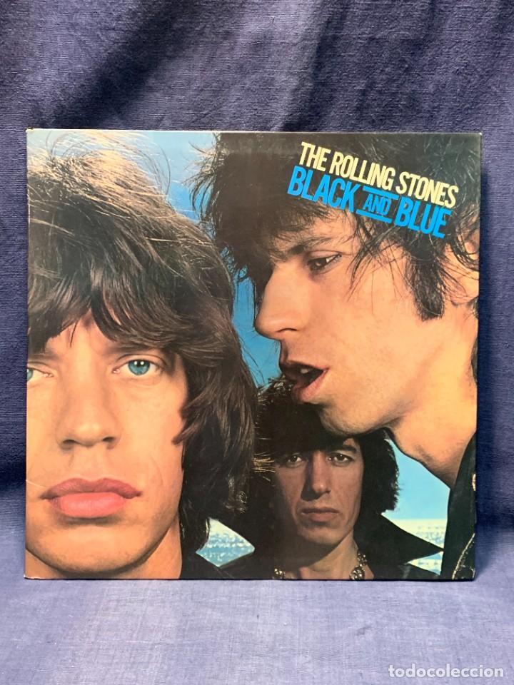 LP THE ROLLING STONES BLACK AND BLUE 1976 MADE IN SPAIN HISPAVOX HRSS 591 08 (LS) COC 79104 (Música - Discos - LP Vinilo - Pop - Rock - Internacional de los 70)