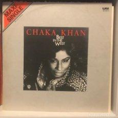 Discos de vinilo: CHAKA KHAN – BEST IN THE WEST. Lote 236728920