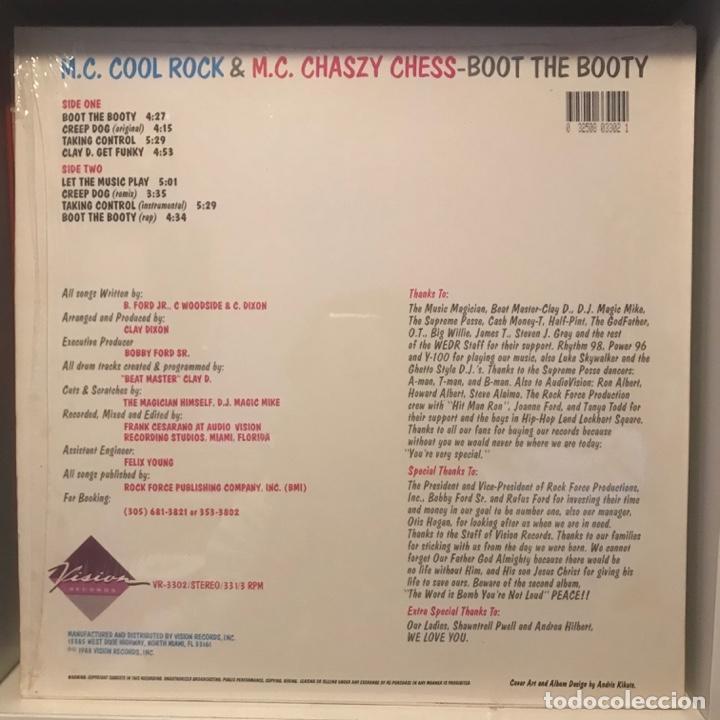 Discos de vinilo: M.C. Cool Rock & M.C. Chaszy Chess Boot The Booty - Foto 2 - 236730045
