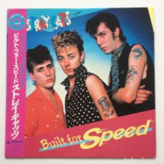 Discos de vinilo: STRAY CATS – BUILT FOR SPEED JAPAN,1982 ARISTA. Lote 236756145
