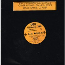 Discos de vinilo: SASH! - LA PRIMAVERA - MAXI SINGLE 1998 - VINILO AMARILLO. Lote 236760825