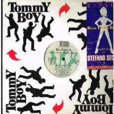 Discos de vinilo: RUPAUL - BACK TO MY ROOTS - MAXI SINGLE 1993 - ED. ITALIA. Lote 236762250
