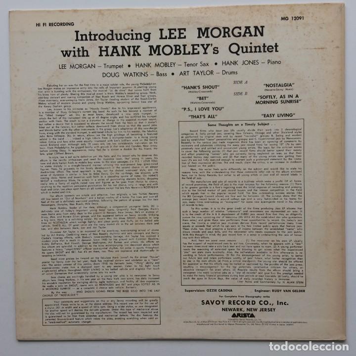 Discos de vinilo: Lee Morgan With Hank Mobleys Quintet – Introducing Lee Morgan Japan,1981 Arista - Foto 3 - 236766865