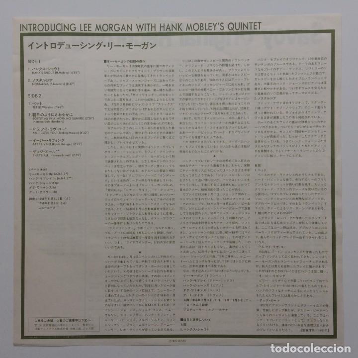 Discos de vinilo: Lee Morgan With Hank Mobleys Quintet – Introducing Lee Morgan Japan,1981 Arista - Foto 4 - 236766865