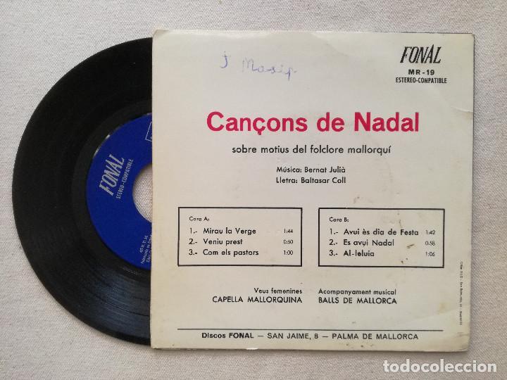 Discos de vinilo: CANÇONS DE NADAL MALLORCA - CAPELLA MALLORQUINA (FONAL) BERNAT JULIA BALTASAR COLL - Foto 2 - 236768385