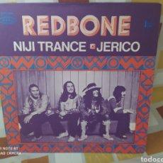 Discos de vinilo: REDBONE–NIJI TRANCE / JERICO. SINGLE VINILO EDICIÓN FRANCIA 1971. PERFECTO ESTADO. Lote 236774320