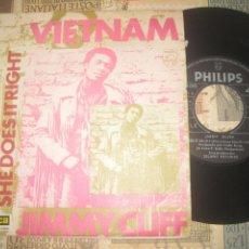 Discos de vinilo: JIMMY CLIFF VIETNAM( 1970-PHILIPS) OG ESPAÑA. Lote 236774345