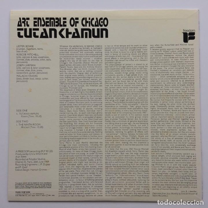 Discos de vinilo: Art Ensemble Of Chicago ‎– Tutankhamun Japan,1985 Freedon - Foto 2 - 236777830