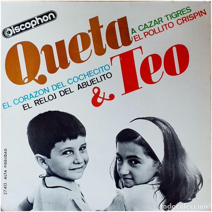 QUETA & TEO (QUETA Y TEO) - EP SPAIN 1965 - DISCOPHON 27.413 (Música - Discos de Vinilo - EPs - Música Infantil)