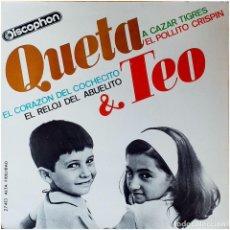 Discos de vinilo: QUETA & TEO (QUETA Y TEO) - EP SPAIN 1965 - DISCOPHON 27.413. Lote 236779655