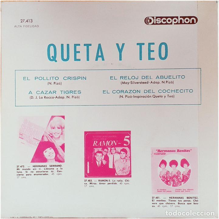 Discos de vinilo: Queta & Teo (Queta y Teo) - Ep Spain 1965 - Discophon 27.413 - Foto 2 - 236779655