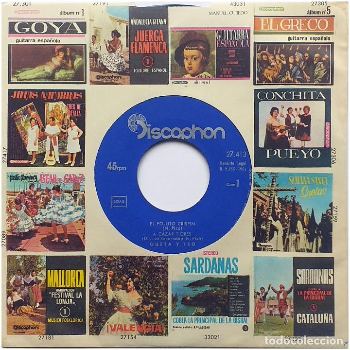 Discos de vinilo: Queta & Teo (Queta y Teo) - Ep Spain 1965 - Discophon 27.413 - Foto 3 - 236779655