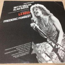 Discos de vinilo: BETTE MIDLER / ALAN BATES - BSO 'LA ROSA' 'THE ROSE' ATLANTIC 1979. ESPAÑA.. Lote 236781160
