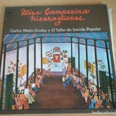 Discos de vinilo: MISA CAMPESINA NICARAGUENSE POR CARLOS MEJIA GODOY Y EL TALLER DE SONIDO POPÙLAR. LP . Lote 22784360