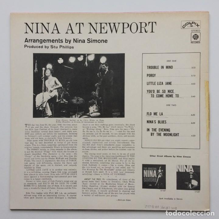 Discos de vinilo: Nina Simone – Nina At Newport Japan,1978 Pye Records - Foto 2 - 236782210