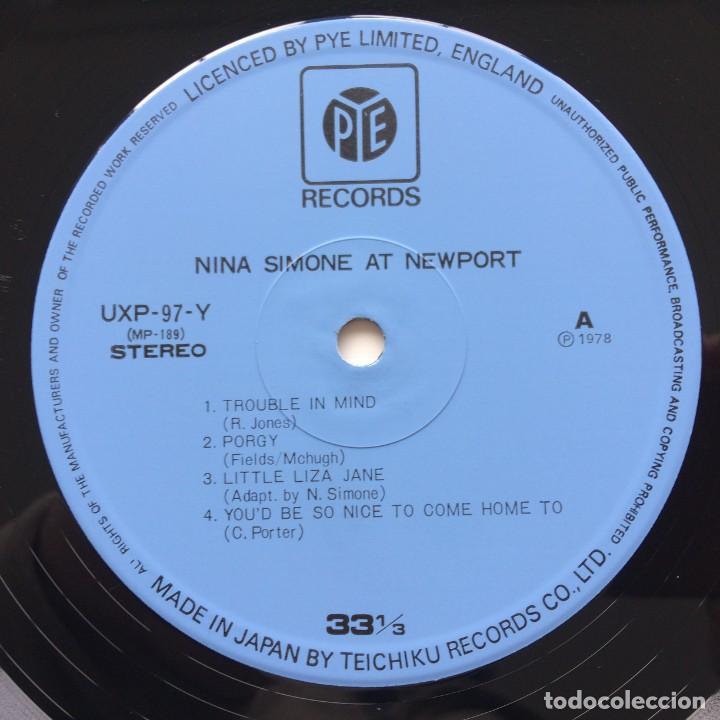 Discos de vinilo: Nina Simone – Nina At Newport Japan,1978 Pye Records - Foto 4 - 236782210