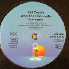 Discos de vinilo: KID CREOLE AND THE COCONUTS - STOOL PIGEON - 1982. Lote 236783530