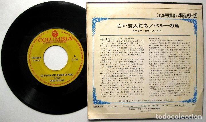 Discos de vinilo: Mario Serrano - 13 Jours En France/Les oiseaux vont mourir au Pérou - Single Columbia 1969 Japan BPY - Foto 2 - 236786035