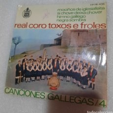Discos de vinilo: REAL CORO TOXOS E FROLES. CANCIONES GALLEGAS 4. Lote 236792080