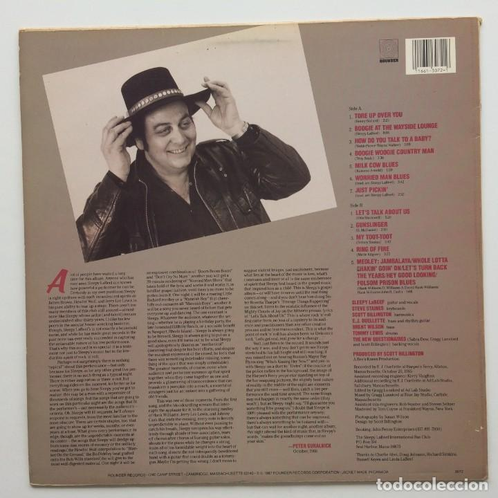 Discos de vinilo: Sleepy LaBeef – Nothin But The Truth USA.1987 Rounder Records - Foto 2 - 236799380