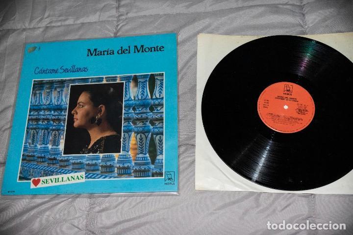 MARÍA DEL MONTE - CÁNTAME SEVILLANAS - ESPAÑA - 1988 - VG/VG- (Música - Discos - LP Vinilo - Flamenco, Canción española y Cuplé)