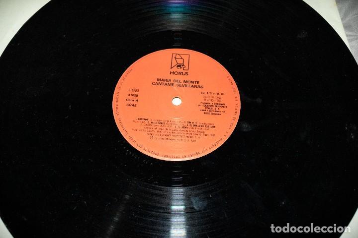 Discos de vinilo: MARÍA DEL MONTE - CÁNTAME SEVILLANAS - ESPAÑA - 1988 - VG/VG- - Foto 4 - 236803235