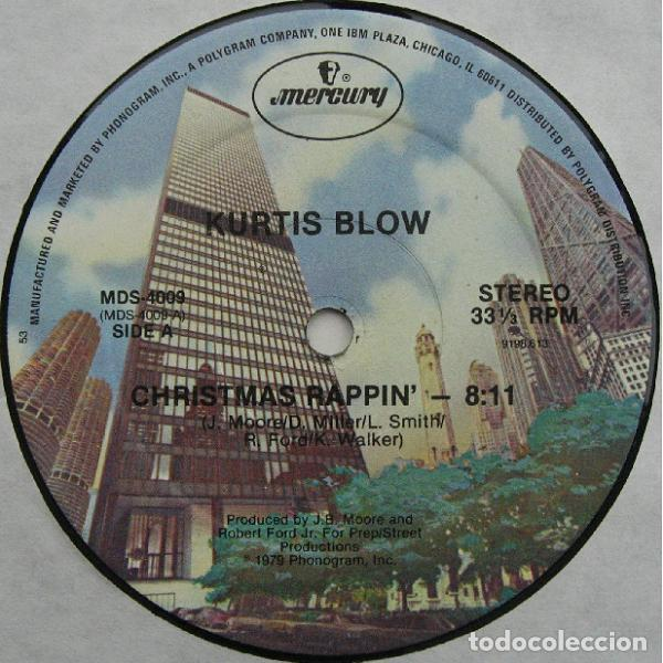 Discos de vinilo: KURTIS BLOW - CHRISTMAS RAPPIN - MAXI-SINGLE US 1979 (HIP HOP, FUNKY ) - Foto 2 - 236807445