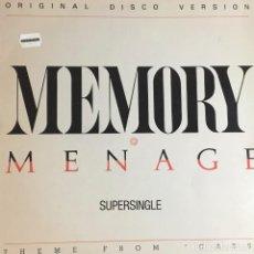 Discos de vinilo: MEMORY - MENAGE. Lote 236809670