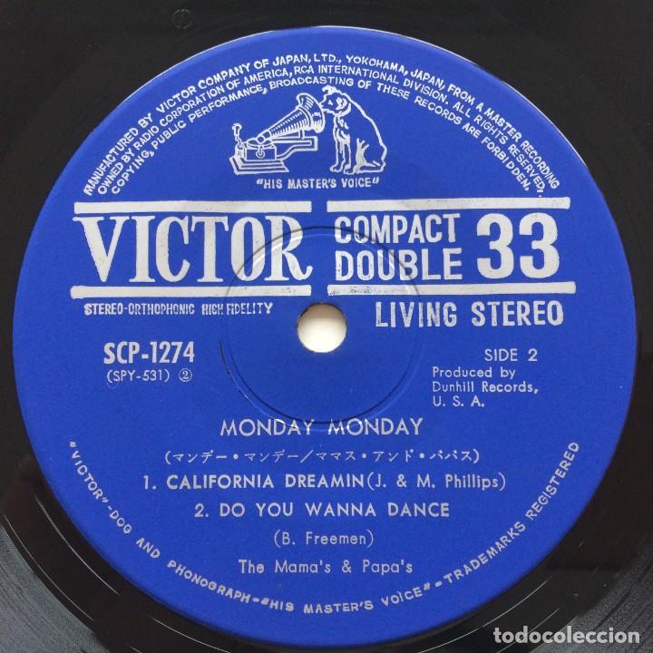 Discos de vinilo: The Mamas & The Papas – Monday Monday / Go Where You Wanna Go / California Dreamin / Do You Wanna - Foto 4 - 236809830