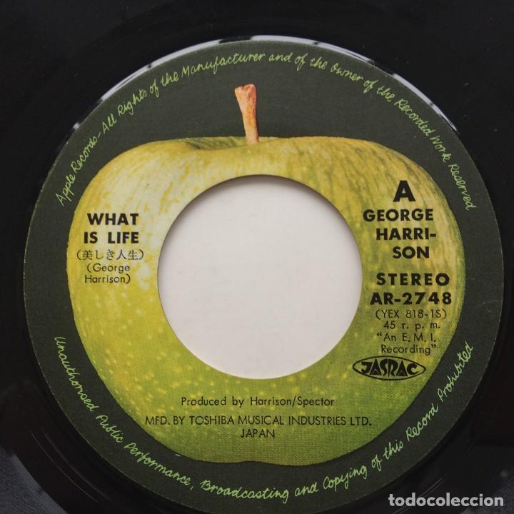 Discos de vinilo: George Harrison – What Is Life / Apple Scruffs Japan,1971 - Foto 4 - 236815290