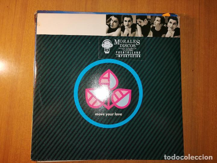 LOTE 2 DISCOS EUROHOUSE. POPCORN TECHNO TALK Y MOVE YOUR LOVE (Música - Discos de Vinilo - Maxi Singles - Techno, Trance y House)