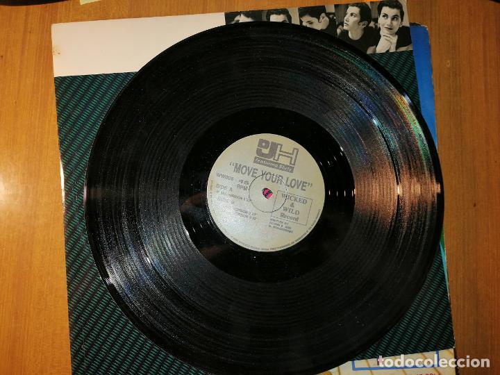 Discos de vinilo: Lote 2 discos EuroHouse. POPCORN TECHNO TALK y MOVE YOUR LOVE - Foto 2 - 236816235