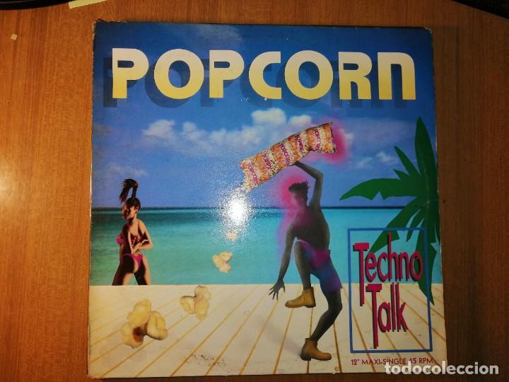 Discos de vinilo: Lote 2 discos EuroHouse. POPCORN TECHNO TALK y MOVE YOUR LOVE - Foto 3 - 236816235