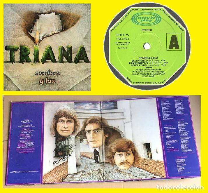 TRIANA, SOMBRA Y LUZ 79 - ORG EDT 1º PRESS SPAIN MOVIEPLAY, DOBLE CARPETA, TODO IMPECABLE (Música - Discos - LP Vinilo - Grupos Españoles de los 70 y 80)