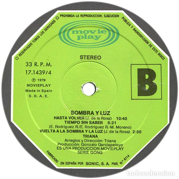 Discos de vinilo: TRIANA, sombra y luz 79 - ORG EDT 1º PRESS spain MOVIEPLAY, doble carpeta, todo impecable - Foto 8 - 236819590